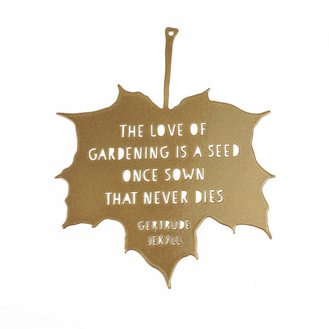 'Love of Gardening' Decorative Leaf