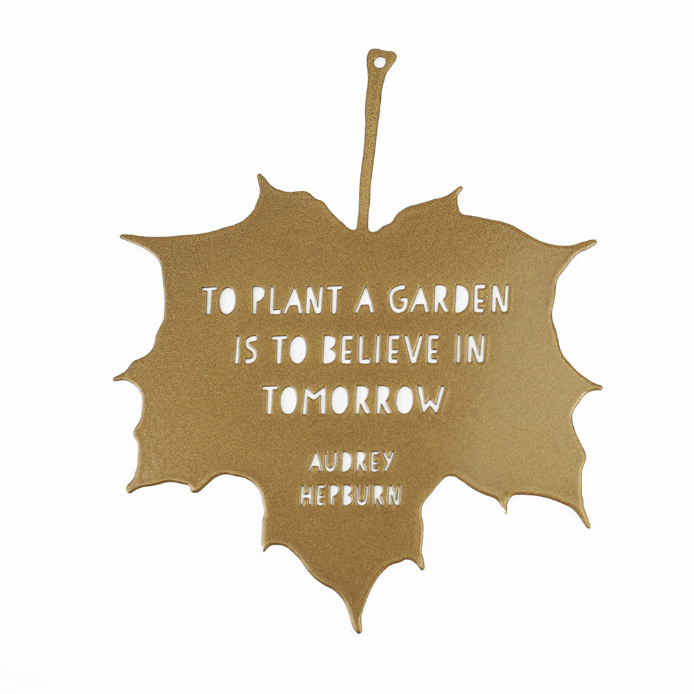 'To Plant a Garden' Decorative Leaf