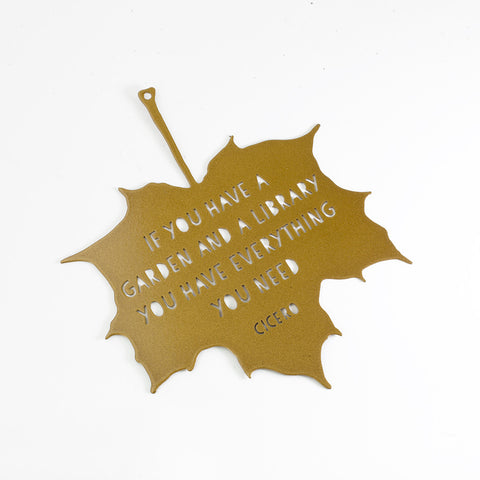 'Library and Garden' Decorative Leaf