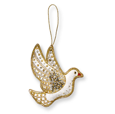 Winter Dove Christmas Decoration