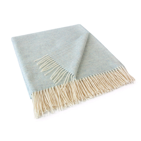 Aqua Lambswool Throw