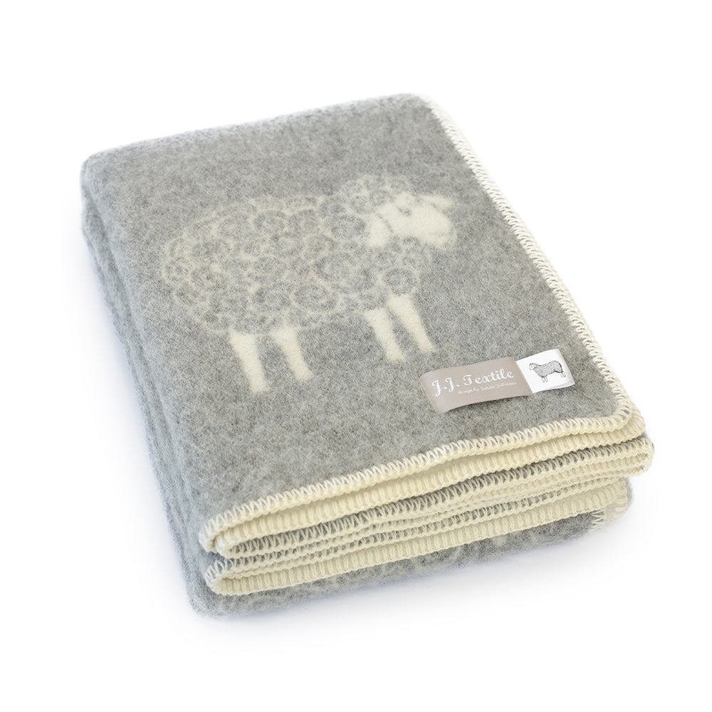 Wool and Cotton Sheep Throw