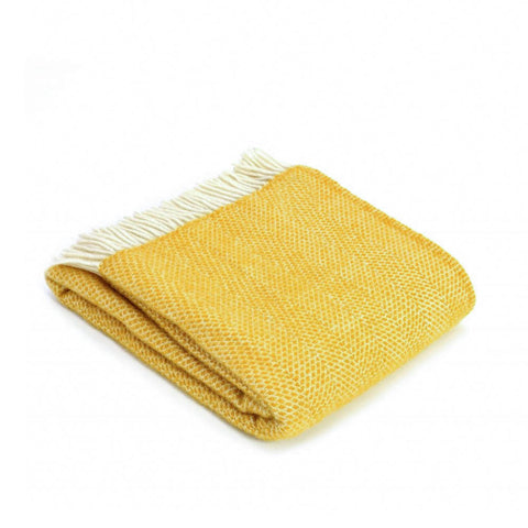 Yellow Lambswool Throw