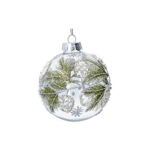 Clear Bauble with Sequins