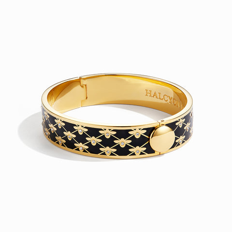 Black and Gold Bee Trellis Bangle