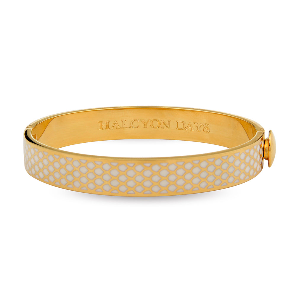 Cream and Gold Salamander Bangle