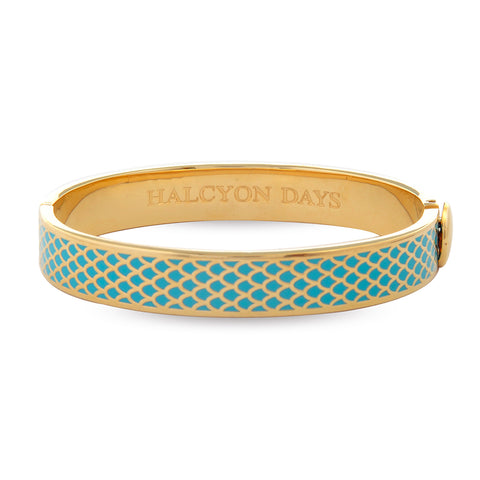 Turquoise and Gold Salamander Bangle