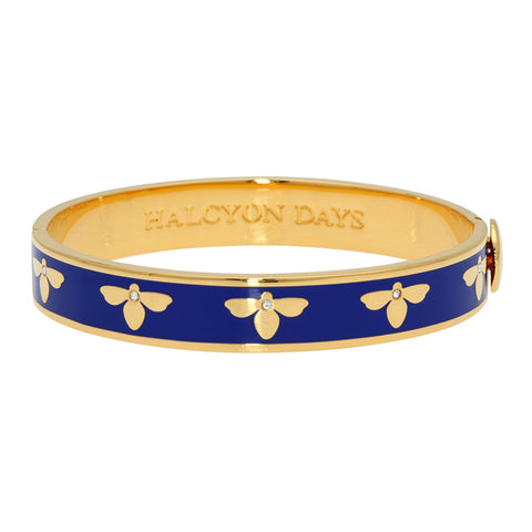 Cobalt Blue and Gold Bee Bangle