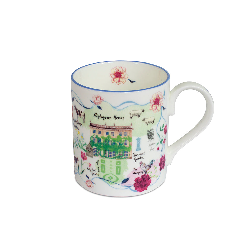 Highgrove Garden Plan Mug