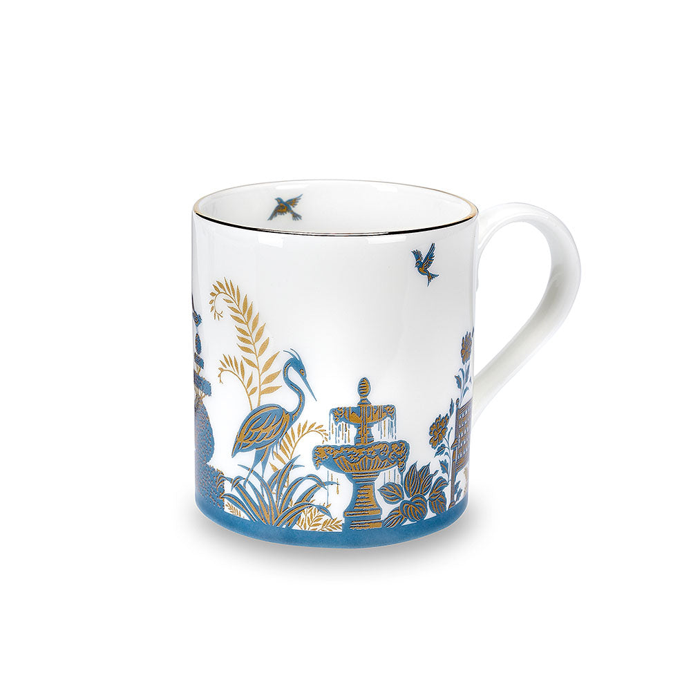 Royal Gardens Blue Fine Bone China Mug