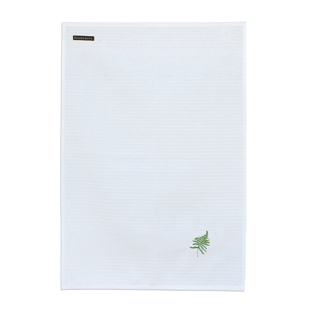 Christmas Fern Tea Towel