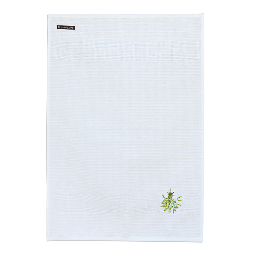 Christmas Mistletoe Tea Towel