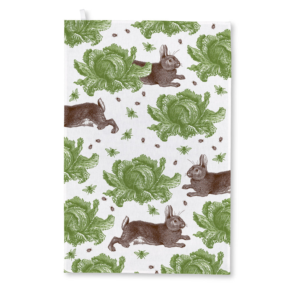 Thornback & Peel - Rabbit & Cabbage Tea Towel