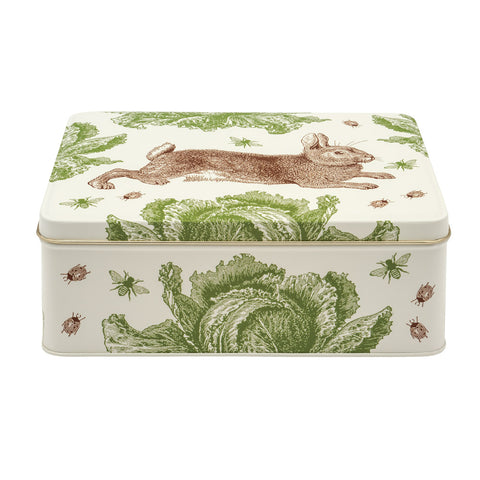 Thornback & Peel - Rabbit & Cabbage Deep Rectangular Tin