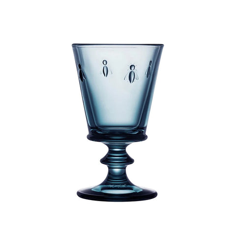 Blue Bee Wine Glass