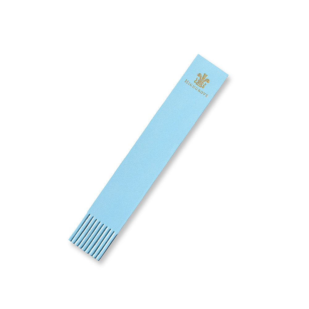 Highgrove Pale Blue Leather Bookmark
