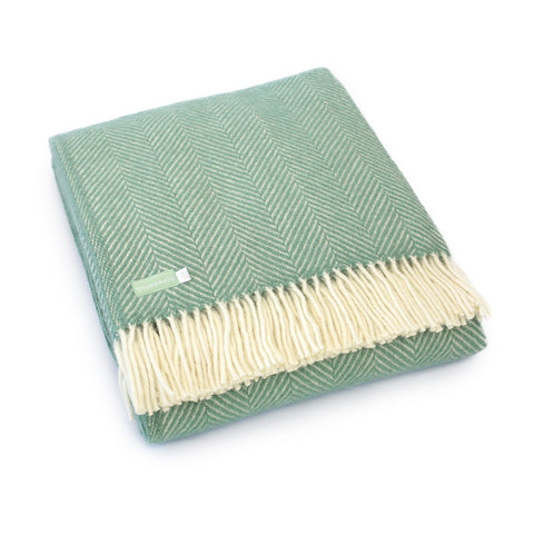 Sea Green Lambswool Throw