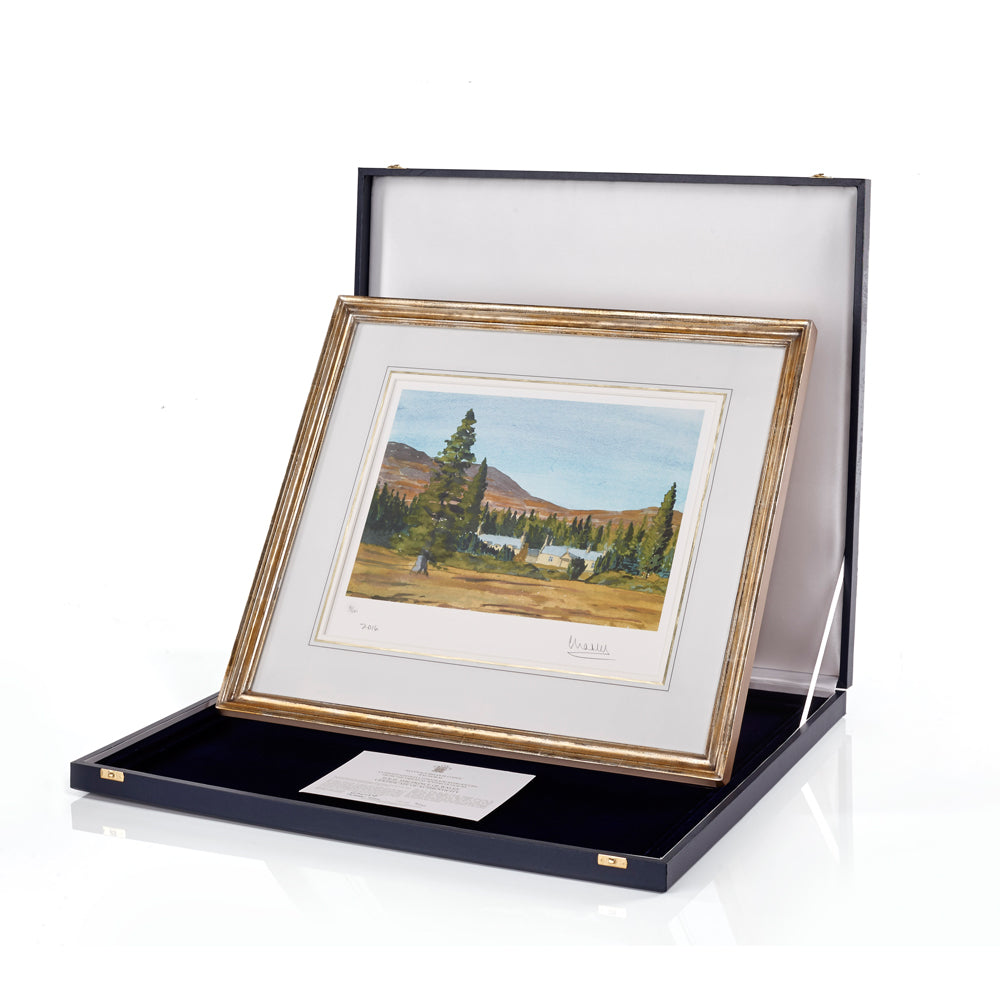 'Alltnaguibhsaich Lodge' Limited Edition Framed Lithograph