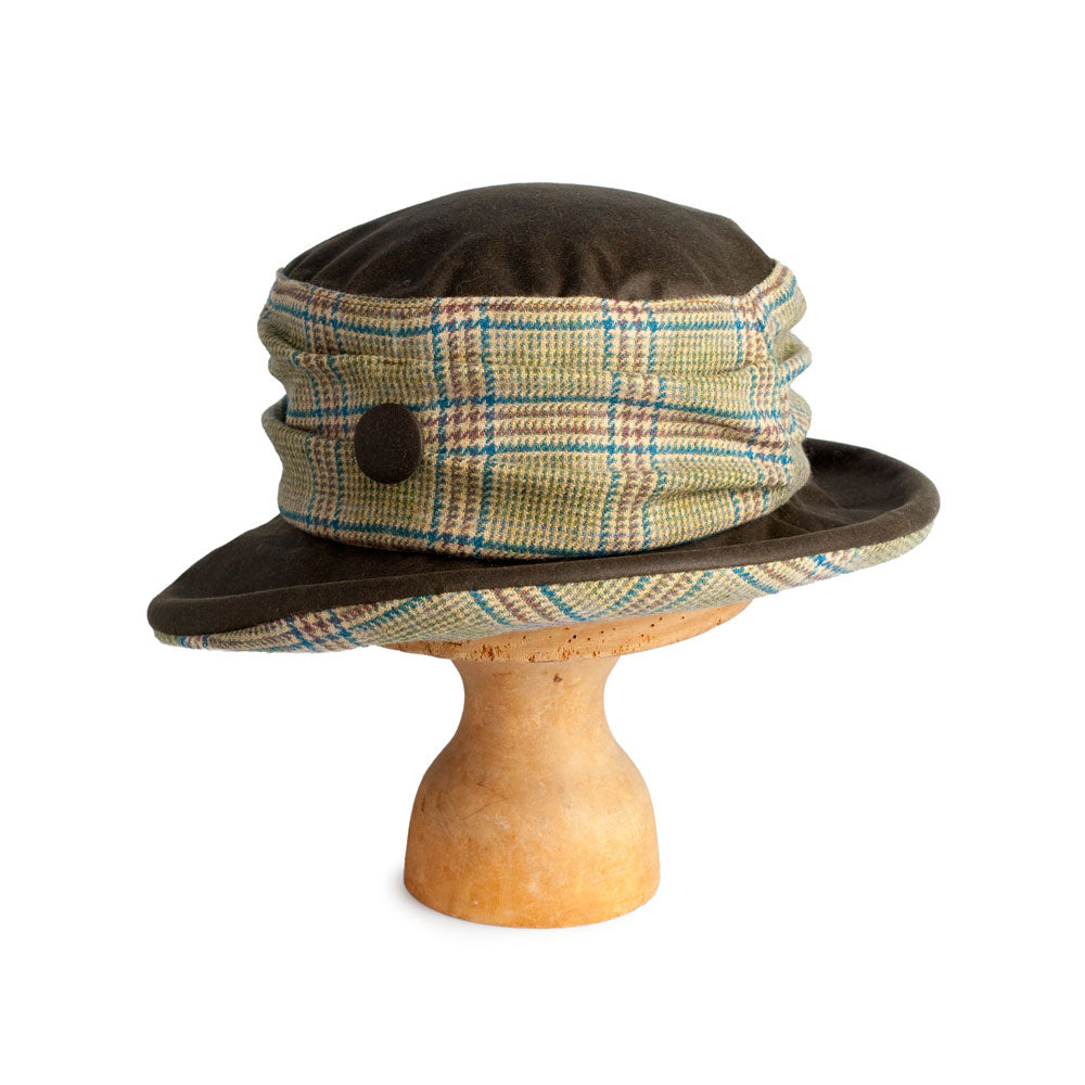 Prince of Wales Check Tweed Brimmed Hat