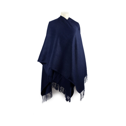 Navy Lambswool Wrap