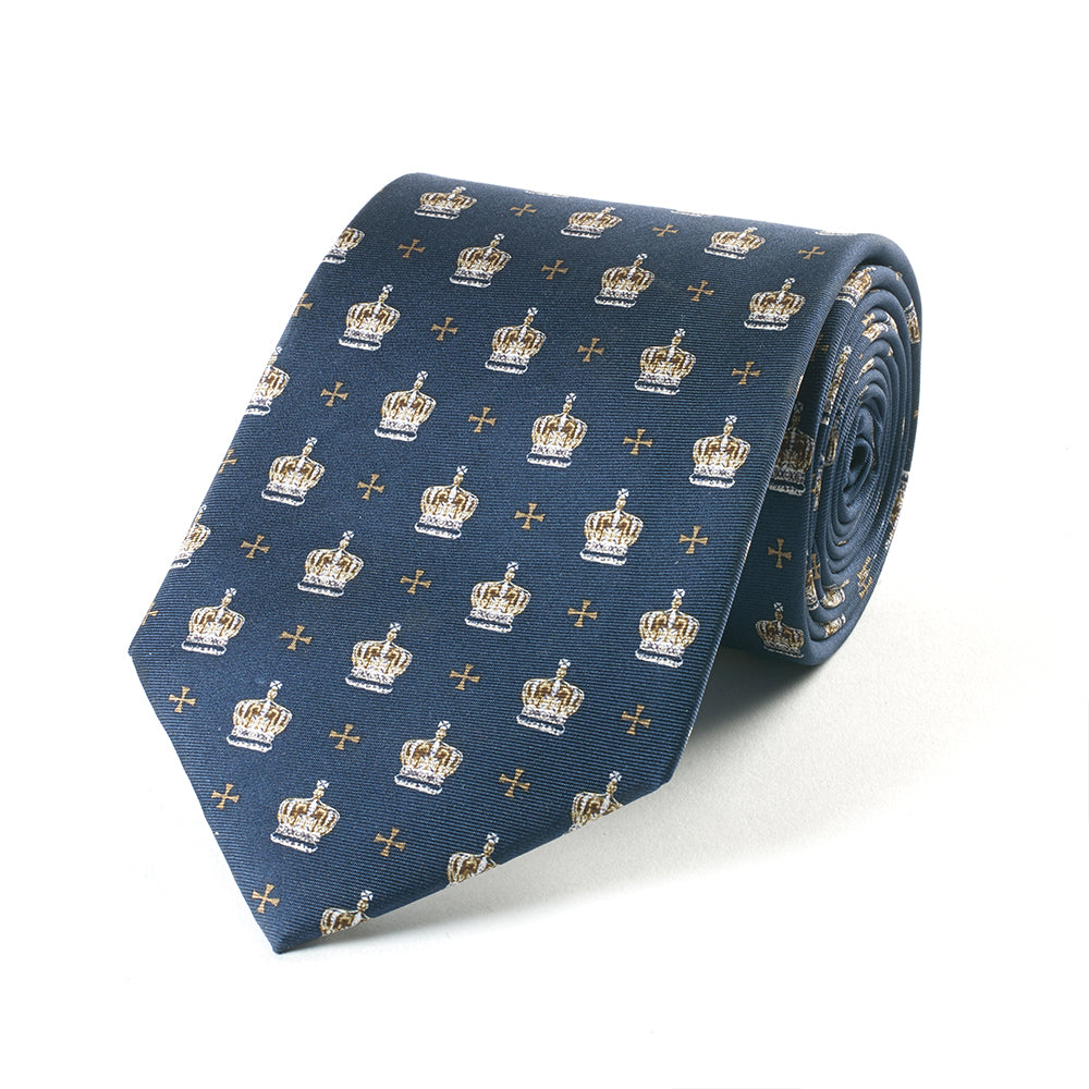 Navy Crown Tie