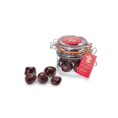 Jar of Organic Dark Chocolate Covered Ginger