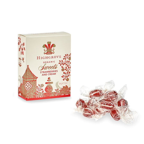 Highgrove Organic Strawberries and Cream Sweets