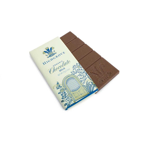 Highgrove Organic Milk Chocolate Bar