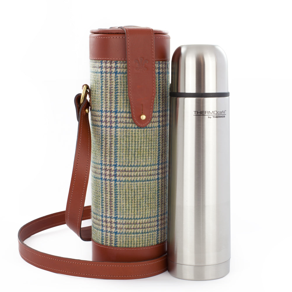 Prince of Wales Check Thermos Flask and Carry Case