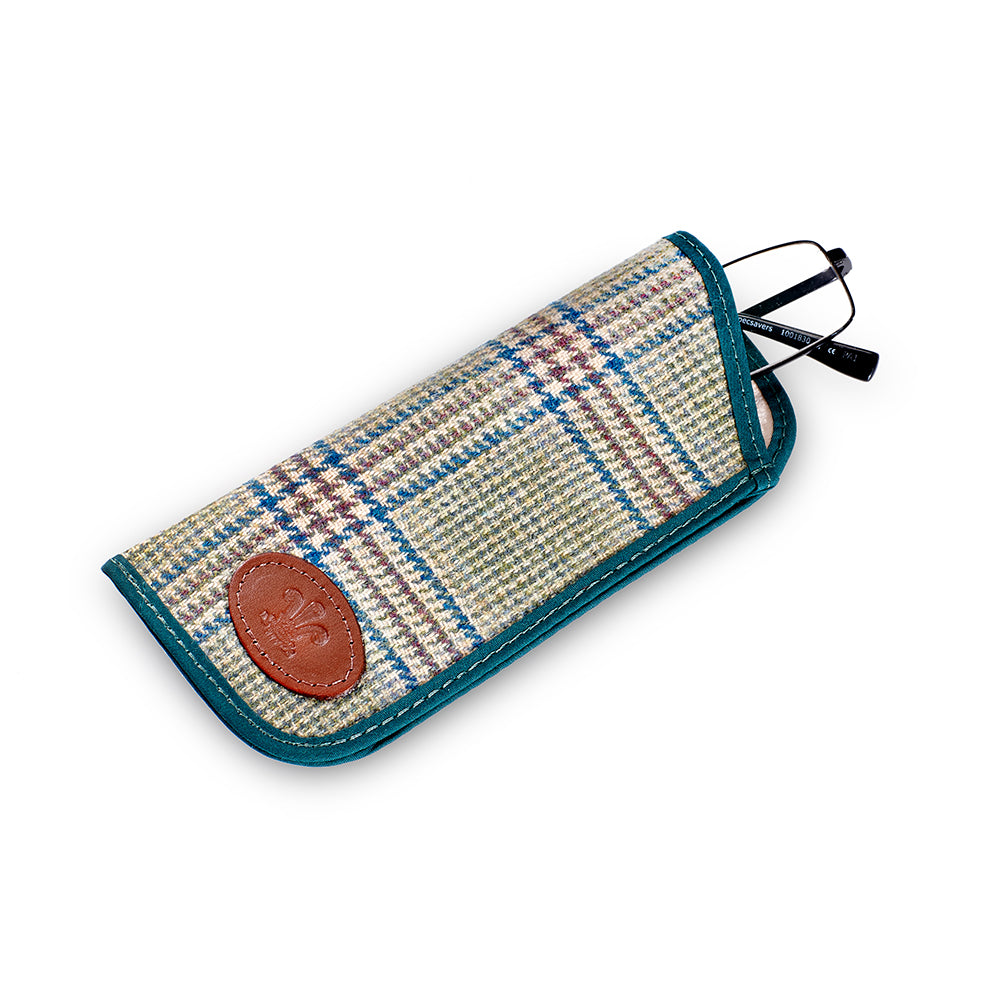 Prince of Wales Check Glasses Case