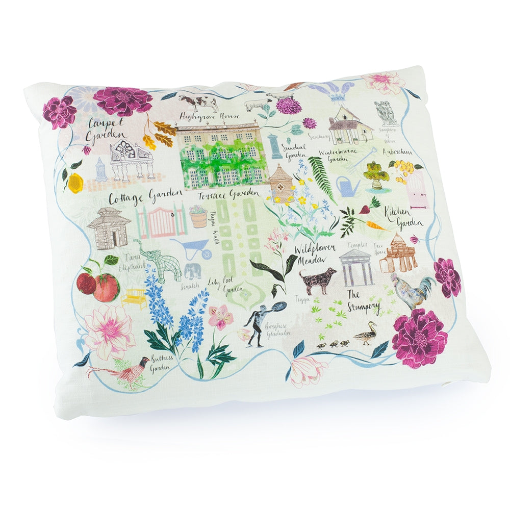 Highgrove Garden Plan Cushion