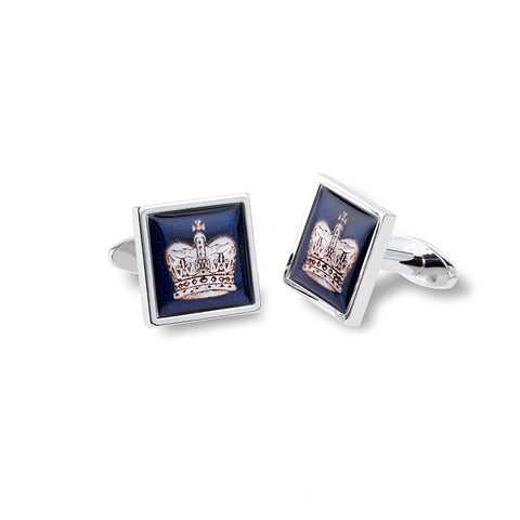 Navy Crown Cufflinks