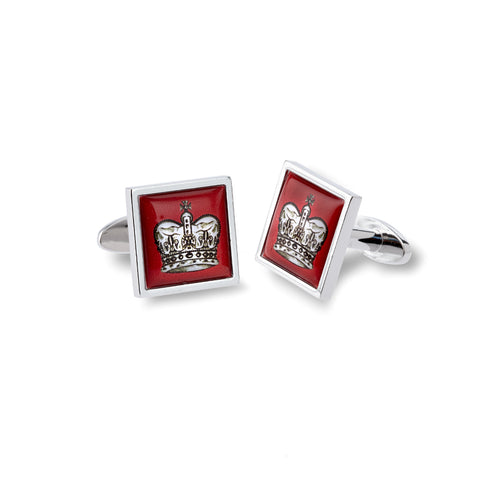 Red Crown Cufflinks