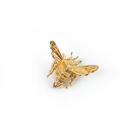Gold-Plated Bee Brooch