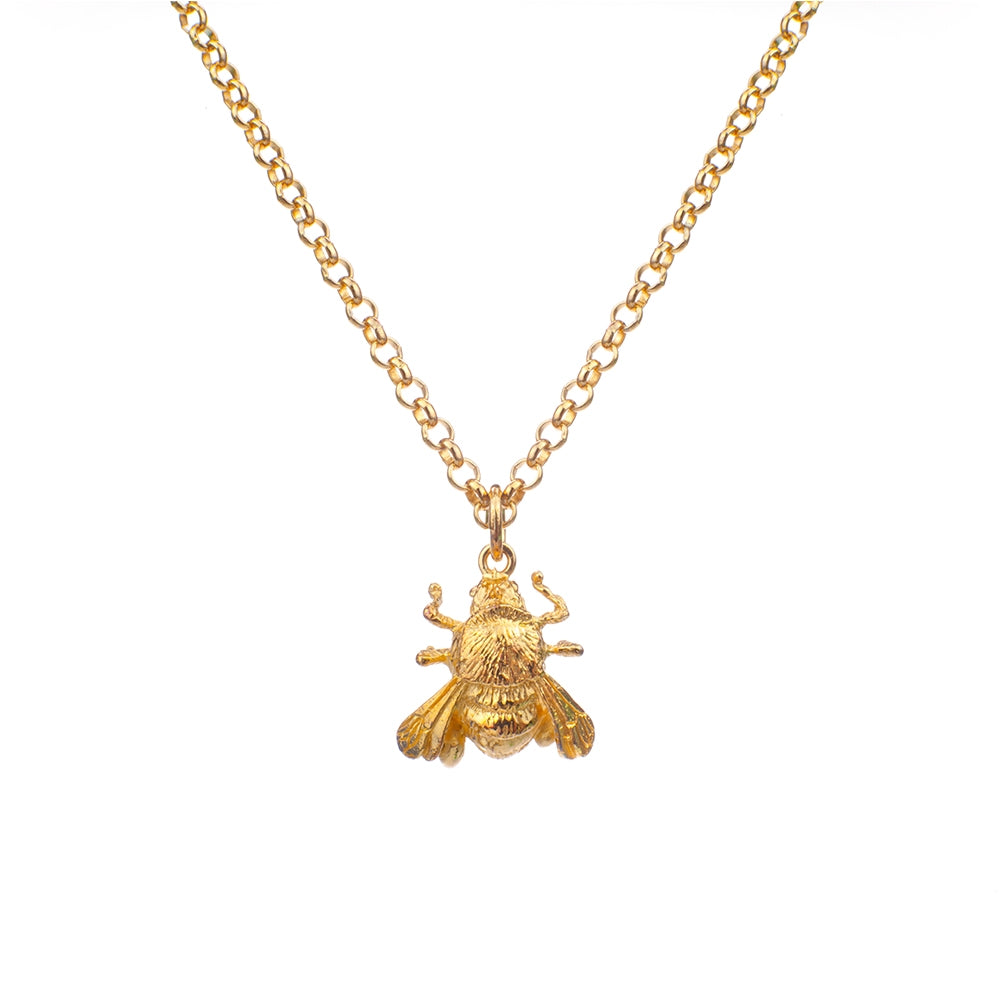 Gold Plated Mini Bee Pendant