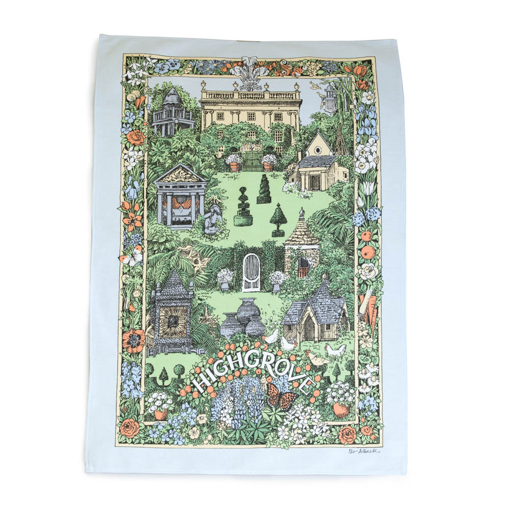 Highgrove Garden Illustrated Tea Towel