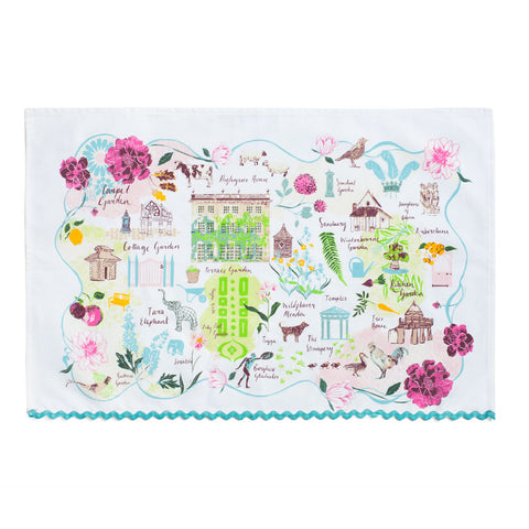 Highgrove Garden Plan Tea Towel