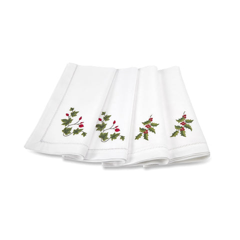 Holly and Ivy Christmas Napkins