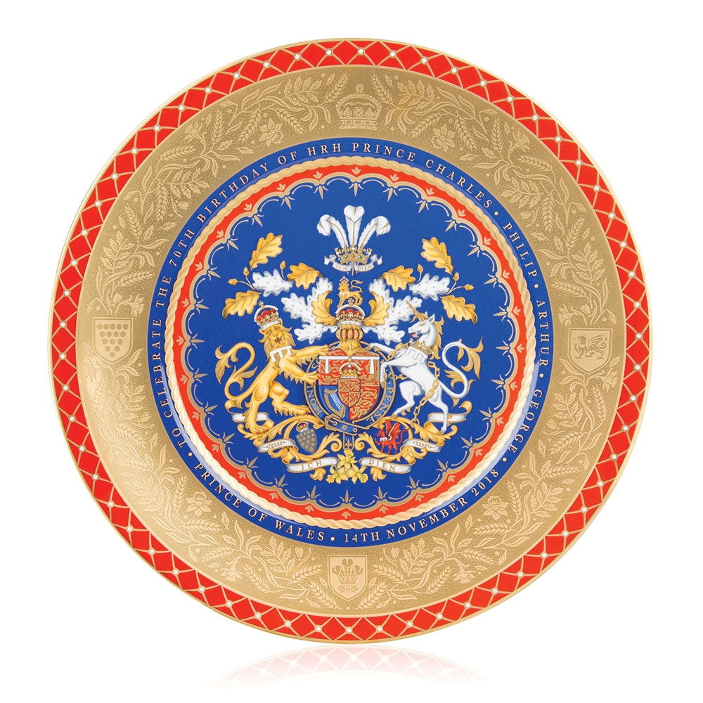 Limited Edition Prince of Wales's 70th Birthday Official Commemorative Charger Plate