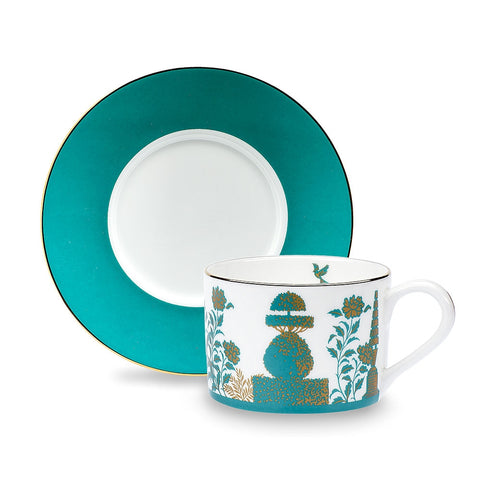 Royal Gardens Jade Teacup and Saucer