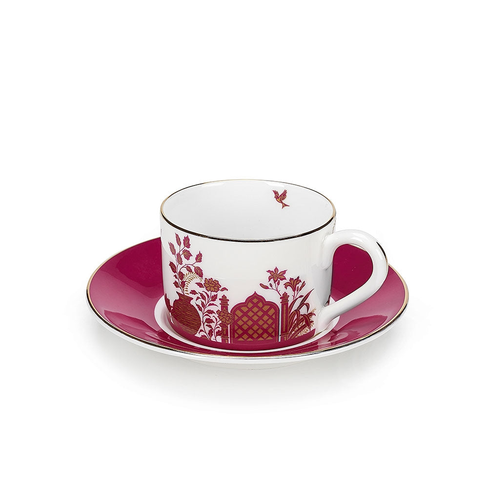 Royal Gardens Pink Teacup and Saucer