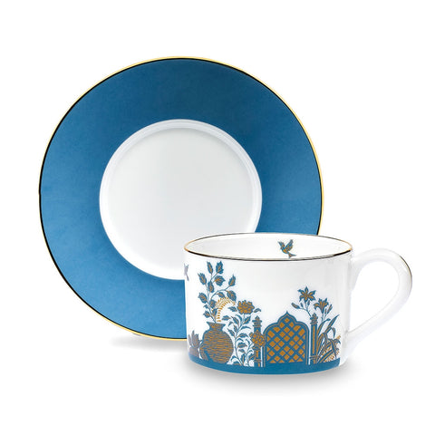 Royal Gardens Blue Teacup and Saucer