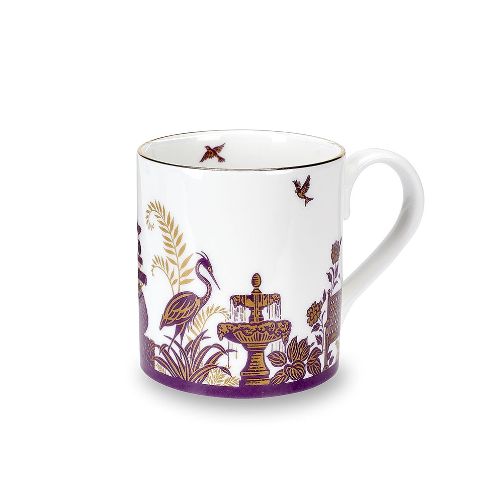 Royal Gardens Purple Fine Bone China Mug