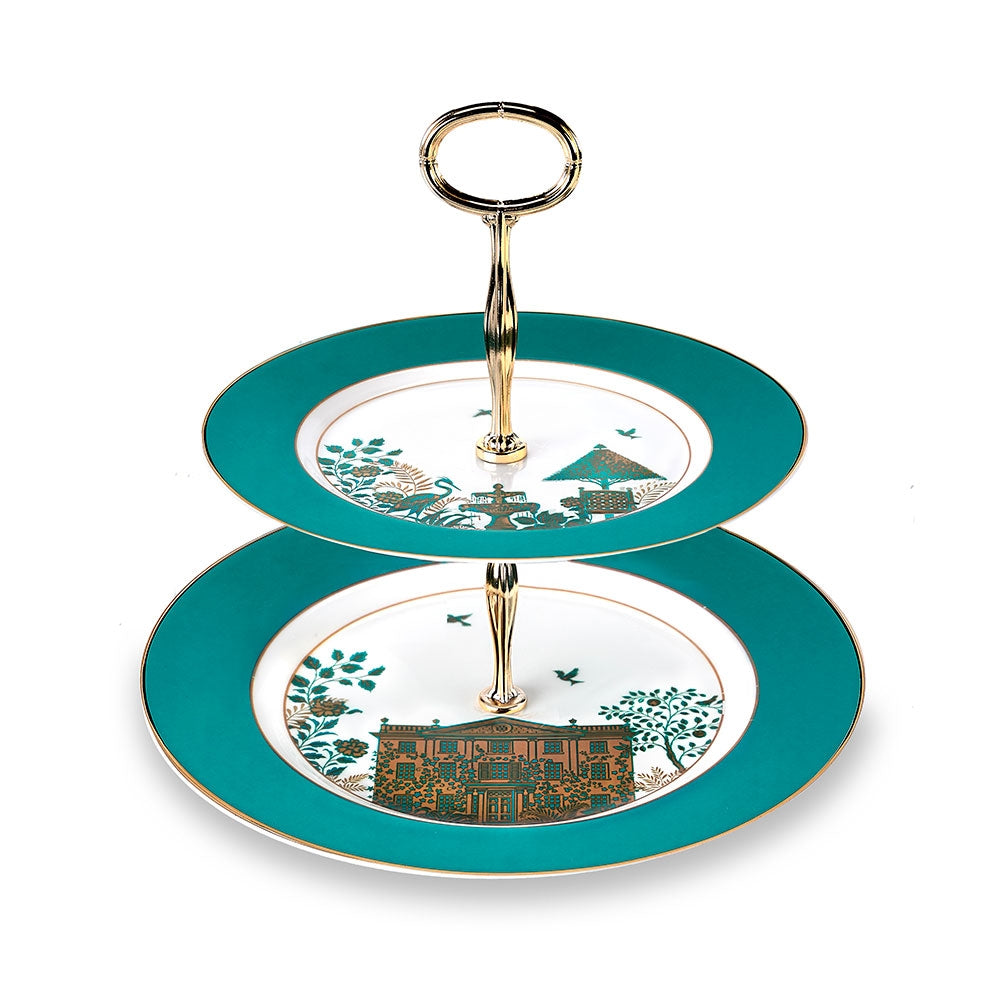 Royal Gardens Two Tier Cake Stand