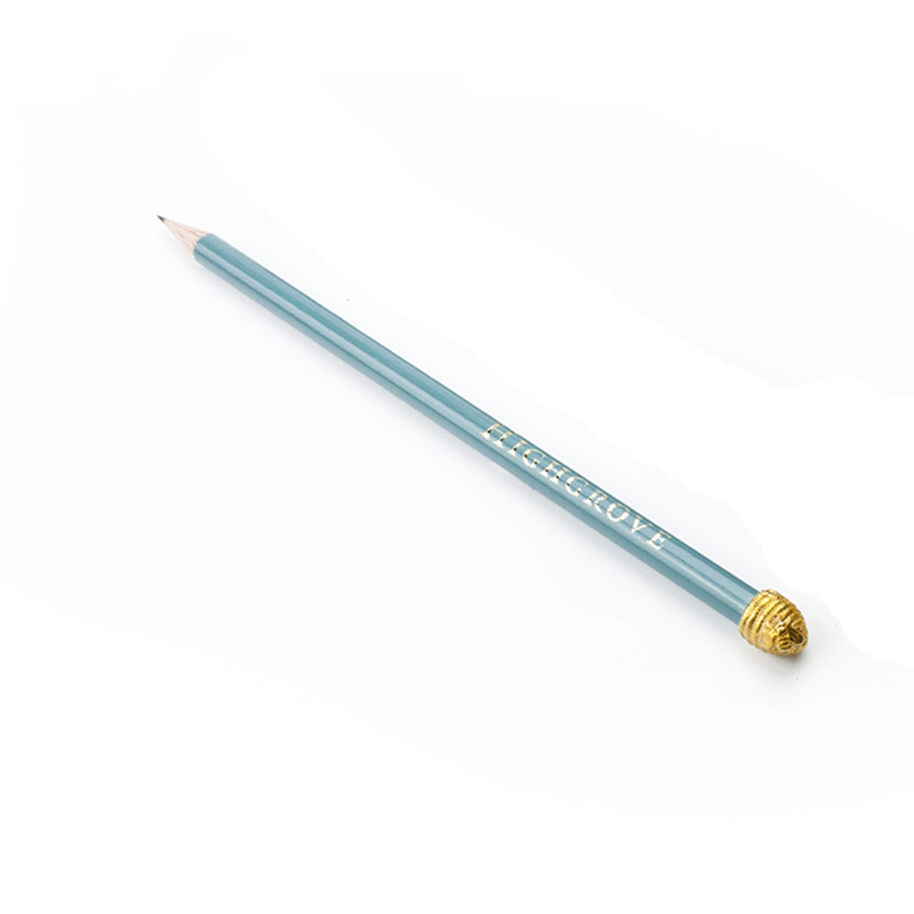Duck Egg Blue Pencil & Highgrove Bees Pencil Topper