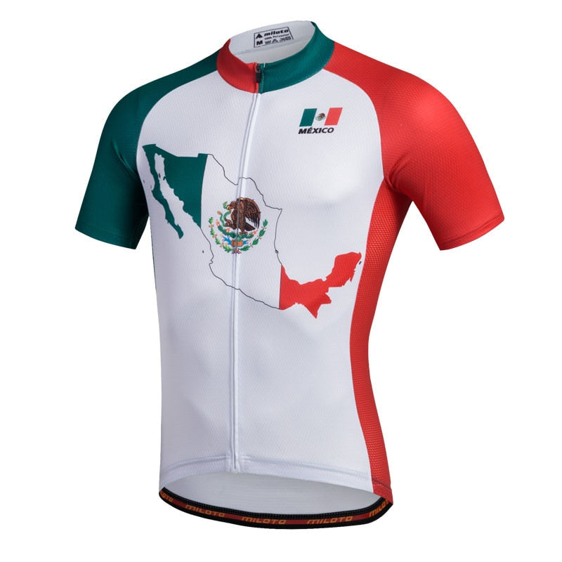 Mexico Map Cycling Jersey Short Sleeve - unisex – Cycling Ma 5f17a415f
