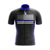 Blue American Flag Cycling Jersey