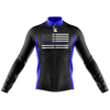 BLUE AMERICAN FLAG CYCLING JERSEY Long Sleeve