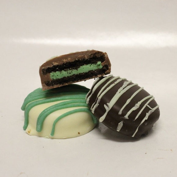 Chocolate Covered Mint Oreos