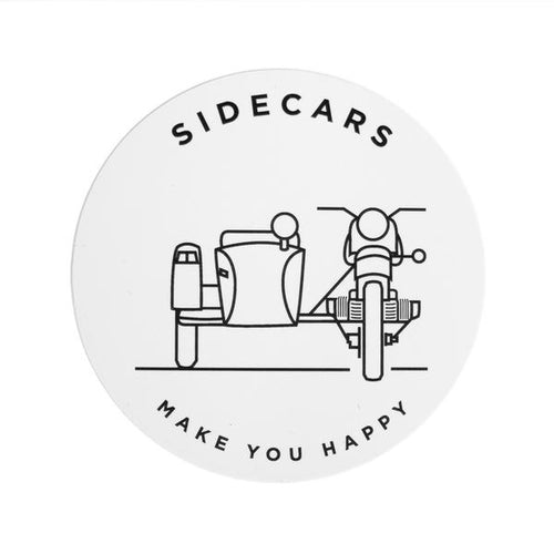 Sidecars Make You Happy Sticker 51004